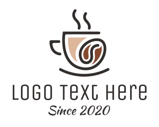 Coffee Maker - Classy Coffee Bean Cafe logo design