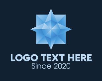 Crystal - Blue Crystal Gem logo design