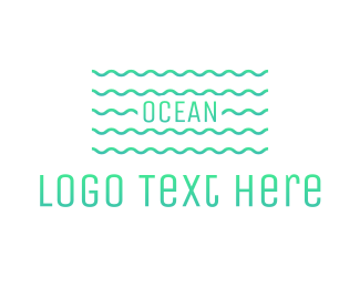 Teal - Ocean Waves logo design