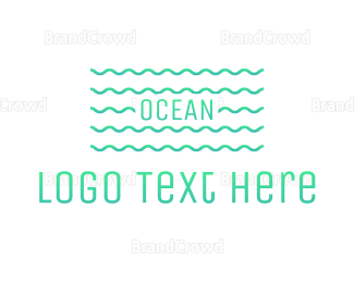 Pool - Ocean Waves logo design