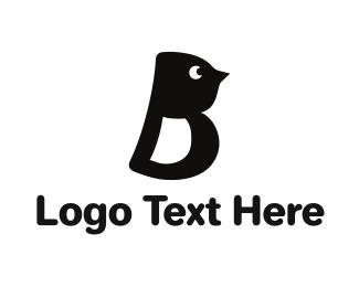 Duckling - Letter B Bird logo design