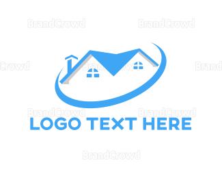 Condominium - Blue House Ring logo design