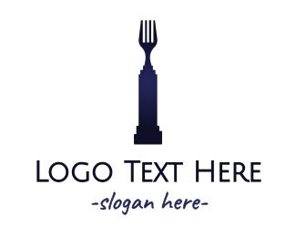 Dinnerware - Fork Statue logo design