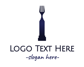 Prize - Fork Statue logo design