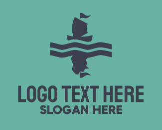 Sail - Blue & Pink Boat logo design