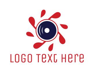 Hidden Camera - Red Propeller Lens logo design