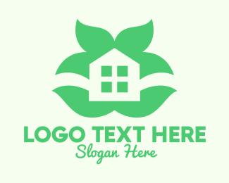 Log Cabin - Green Home Garden logo design