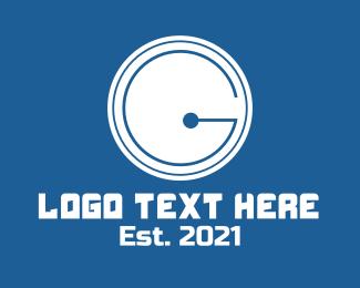 On - Circuit Tech Letter G logo design
