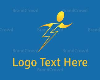 Move - Human Bolt logo design