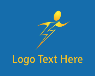 Electrician - Human Bolt logo design