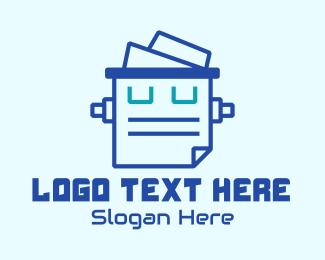 Office Supplies - Blue Robotics Tech Document logo design