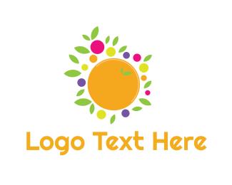Juice Bar - Orange Fruit logo design
