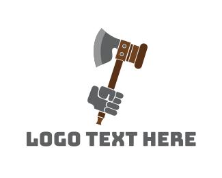 Lumberjack - Medieval Axe logo design