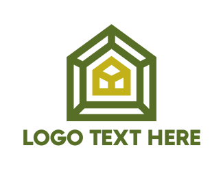 Green City - Green Frame House logo design