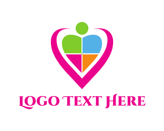 Community - Community Heart logo design