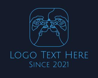 Console - Minimalist Gaming Console logo design