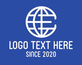 Global Business - Global Company Letter E logo design