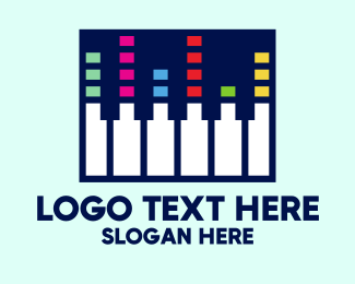Mixer - Colorful Modern Piano Keys logo design