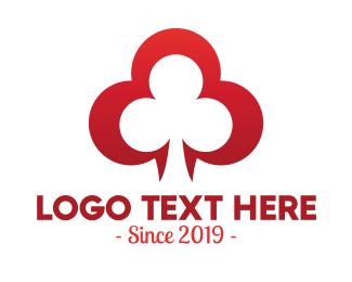 Roulette - Elegant Clover Leaf Symbol logo design