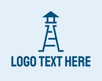 Ladder - Blue Watchtower logo design