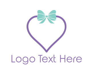 Present - Heart Gift logo design