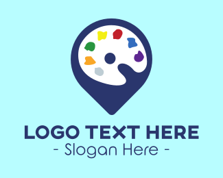 Coloring - Art Location Pin logo design