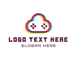 Gamestick - Game Cloud logo design