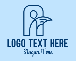 Spirit - Blue Human Angel  logo design