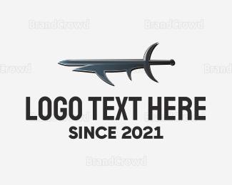 Axe - Sword & Fish logo design