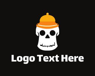 Cranium - Bellboy Skull logo design