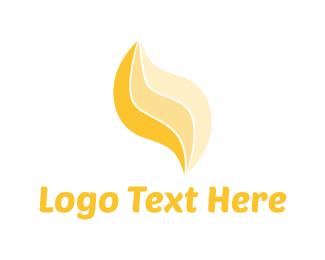 Amber - Yellow Flame logo design