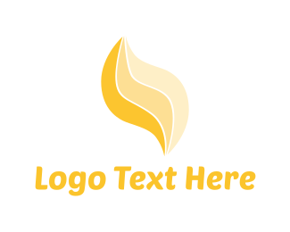 Candle - Yellow Flame logo design