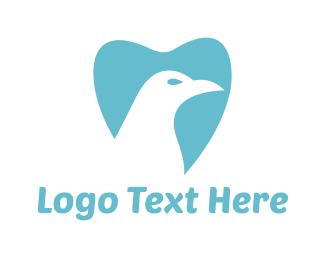 Dental - Bird & Tooth logo design