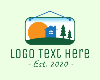 Plate - Sunrise Woods Lodging logo design