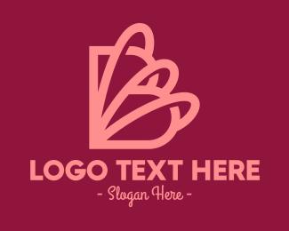 Rings - Curvy Letter B logo design