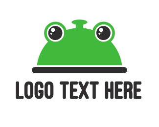 Amphibian - Frog Food logo design
