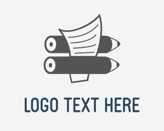 Calligraphic - Pencil & Paper logo design