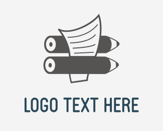 Newspaper - Pencil & Paper logo design