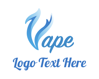 E Cigarette - Blue Smoke Vape logo design