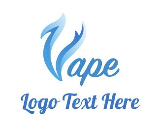 Trend - Blue Smoke Vape logo design