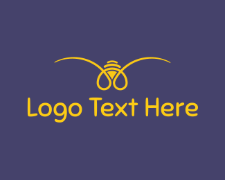 Blue And Yellow - Yellow Bee logo design