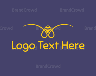 Purple And Yellow - Yellow Bee logo design