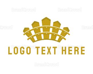 Tiara - Fence Crown logo design
