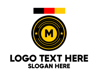 Shield - German Military Lettermark logo design