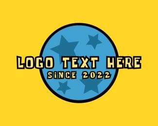 Childhood - Kindergarten Ball Star Text logo design