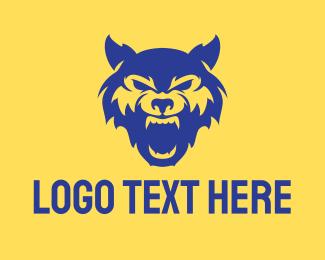Athletics - Wild Blue Wolf logo design