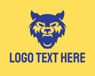 Fangs - Wild Blue Wolf logo design