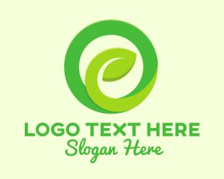 Recycling - Eco Green Circle logo design