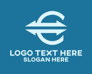 Monetary - Euro Stock Market logo design