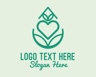 Heart - Organic Lover Gardening logo design